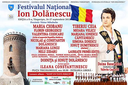 Afis Festivalul Ion Dolanescu Editia 2