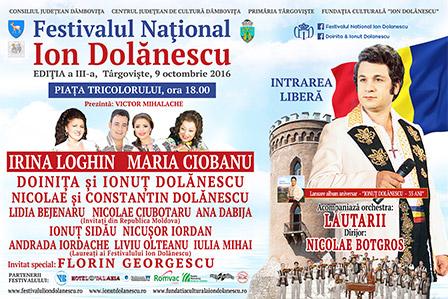 Afis Festivalul Ion Dolanescu Editia 3